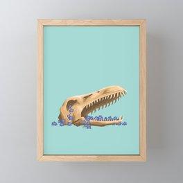 Plesiosaurus and Forget-Me-Nots Framed Mini Art Print