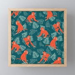 Monkey Forest Framed Mini Art Print