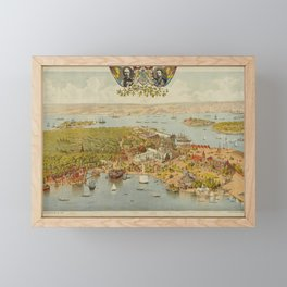 Panorama Map - The Great Art and Industry Exposition, Stockholm (1897) Framed Mini Art Print