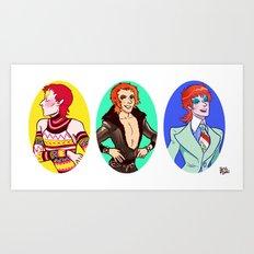 Glam Bowie 2 Art Print