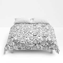 Cute monsters Comforters