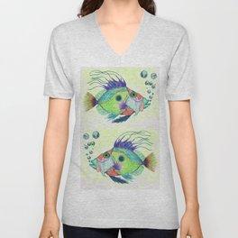 Funky Fish Art - By Sharon Cummings Unisex V-Neck