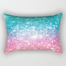 Mermaid Galaxy Sparkle Stars Rectangular Pillow