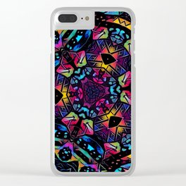 Stained Glass 1 Clear iPhone Case