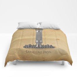 vintage gillette.good old days Comforters