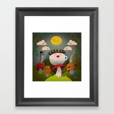 Jolly Coffeesburg (Soy, venti, vanilla latte, sugar-free) Framed Art Print