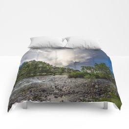 Mountain Rain - Storm Brews Over San Juan River near Pagosa Springs Colorado Comforters