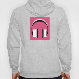 Headphones in fandango pink Hoody