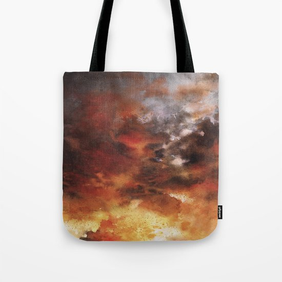 Windmill and the Sunset Sky Tote Bag