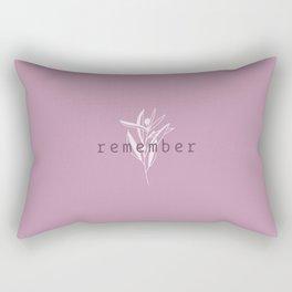 remember Rectangular Pillow