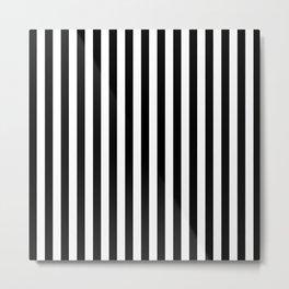Stripe Black & White Vertical Metal Print