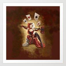 Steampunk Harley Quinn Art Print