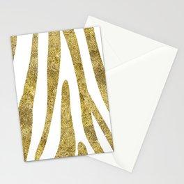 Golden exotics - Zebra and crisp white Stationery Cards