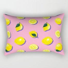 Pink Lemon ~ 80's Pattern Rectangular Pillow