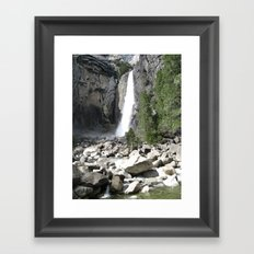Rocks and Water Framed Art Print