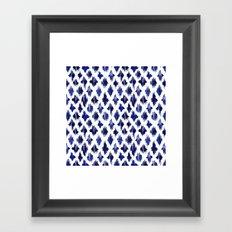 Shaking ultramarine Framed Art Print