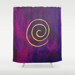 Philip Bowman Infinity Deep Purple And Gold Abstract Modern Art Painting Shower Curtain