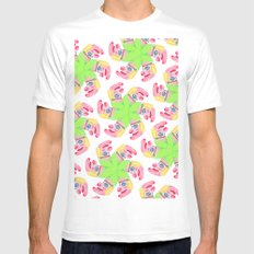 Punchy Colours White Mens Fitted Tee MEDIUM