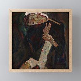 "Egon Schiele ""The Lyricist"" Framed Mini Art Print"