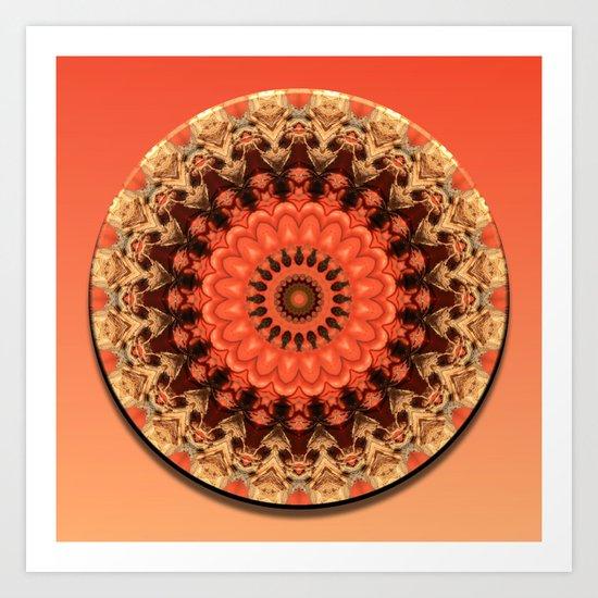 Pumpkin Kaleidoscope Art Print