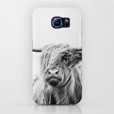portrait of a highland cow Slim Case Galaxy S8