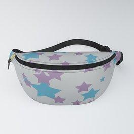 Stars light purple grey Design Fanny Pack