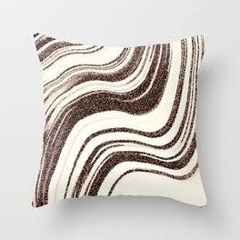 Textured Marble - Brown & Cream Throw Pillow