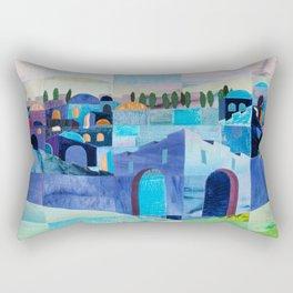 Jerusalem in Blue Rectangular Pillow