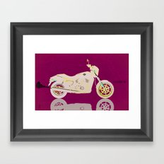 To the Street Framed Art Print