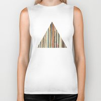 cassia beck Biker Tanks featuring Record Collection by Cassia Beck
