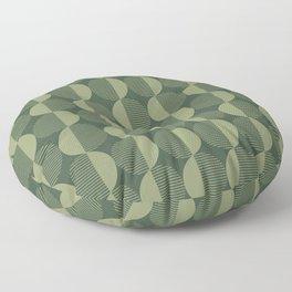 Abstract Circles pattern green  Floor Pillow