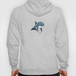 Love Ya! ~ Baby Dolphin by Amber Marine ~ Pink ~ (Copyright 2014) Hoody