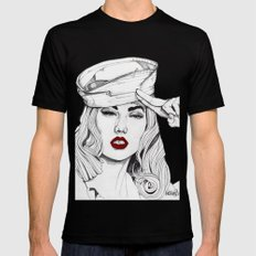 Sailor Girl 2 Mens Fitted Tee Black LARGE