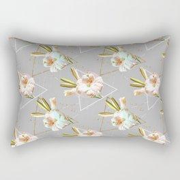 Botanical blooming with geometric 02 Rectangular Pillow
