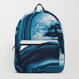 Blue White Agate #2 #gem #decor #art #society6 Backpack