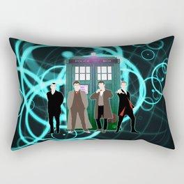 The Doctors And Tardis Rectangular Pillow