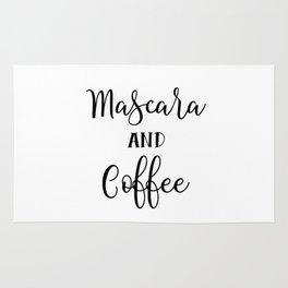 Mascara and coffee Rug