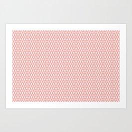 Crosshatch Red Art Print