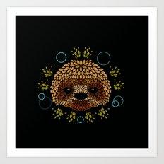 Sloth Face Art Print