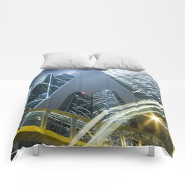 Hong Kong Night City Comforters