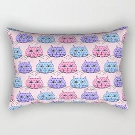 Polka Dot Cats Rectangular Pillow