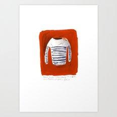 Breton Sweater Art Print