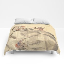"""Egon Schiele """"I Will Gladly Endure for Art and My Loved Ones"""" Comforters"""