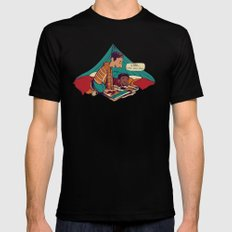Troy & Abed's Dope Adventures MEDIUM Black Mens Fitted Tee