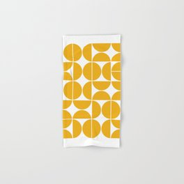 Mid Century Modern Geometric 04 Yellow Hand & Bath Towel