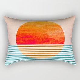 Minimalist Sunset III Rectangular Pillow