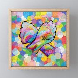 ASL Love Framed Mini Art Print
