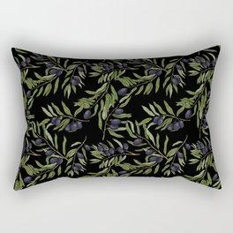 Black Olives Pattern Rectangular Pillow