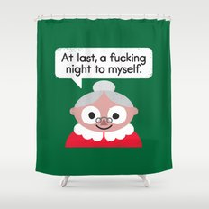 The Claus Come Out Shower Curtain
