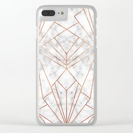 Art Deco Marble & Copper - Large Scale Clear iPhone Case